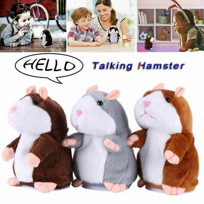 Talking Hamster Toy Sound Record Electric Plush Interactive Toy Children Gifts