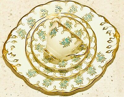 4 items - Tea cup and Saucer/Plates Salisbury bone china - Afternoon Tea Art Dec