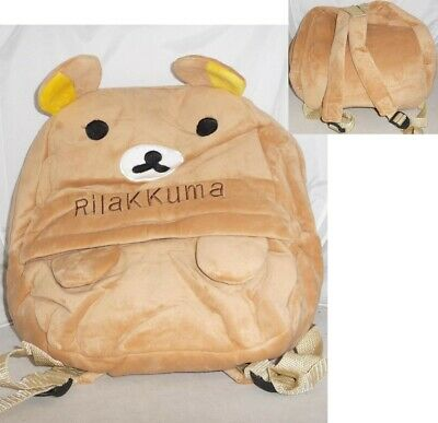 Rilakkuma Bear Backpack Plush 35x30cm Cosplay New