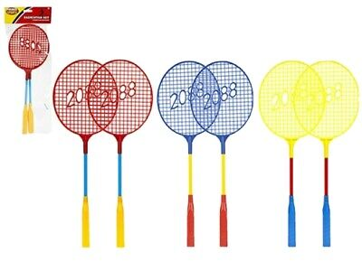 NEW 2 PLAYER BADMINTON SET WITH RACKET SHUTTLECOCK OUTDOOR GARDEN GAME SPORTS UK
