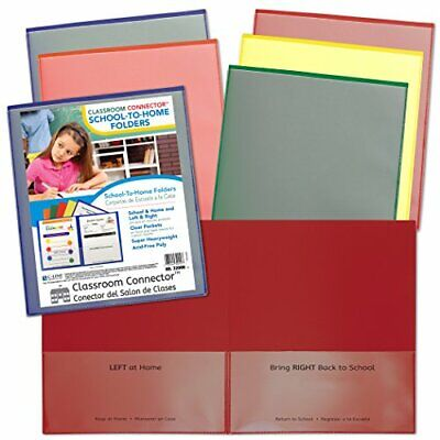 C-Line Products CLI32000 Classroom Connector School-to-Home Folder Colors Ass...