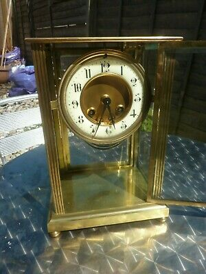 Antique French Four Glass Brass clock