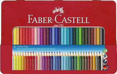 Faber-Castell Colour Grip Colouring Pencils - Tin of 36