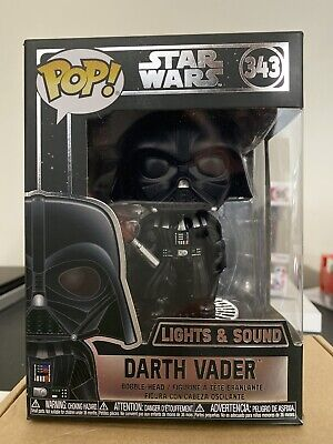 Funko Pop Star Wars Darth Vader 343 Lights and Sound With Chalice Protector