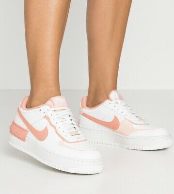 NIKE AIR FORCE 1 Shadow Vast Grey Laser Orange CU3446 001