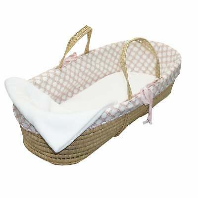 Cotton Tale Sweet and Simple PInk Moses Basket Pink