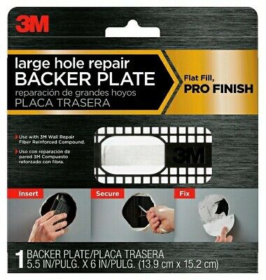 🆕 3M Back Plate 6.0-in x 5.5-in Drywall Repair Patch (2 Pack) 💯