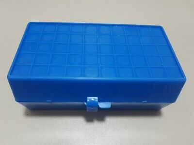 Polypropylene Cryobox for 50 samples sample box dark blue