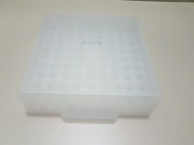 Polypropylene Cryobox for 81 samples sample box white