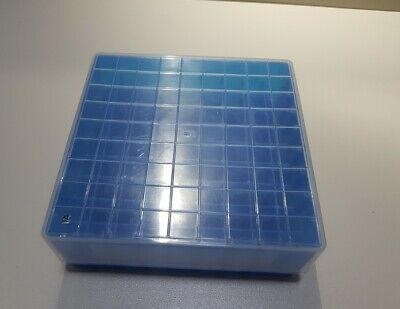 Polypropylene Cryobox for 81 samples sample box dark blue