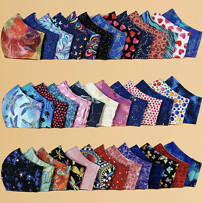 Reusable, Washable, Three Layer Cotton Face Mask - Pack of 2, Face Cover