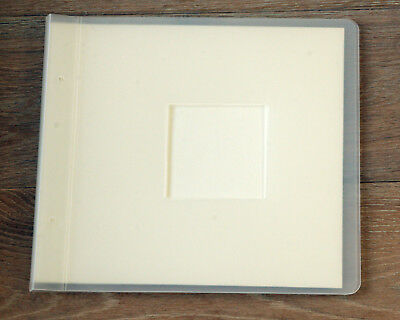 "Campdale Traditional Photo Album 9"" Square Clear Acrylic With 10 Cream Pages"