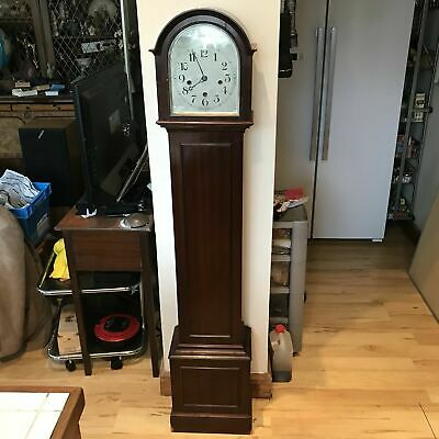 antique grandmother clock Mahogany Westminster Chimes