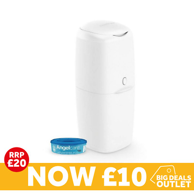 Angelcare Nappy Disposal System  Nappy Bin - Starter Pack with one refill