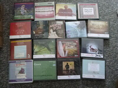 Lot of 17 AudioBooks on CD Mixed Subject Matter