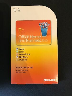 Microsoft Office 2010 Home and Business Word Excel Outlook T5D-00295 PKC GENUINE