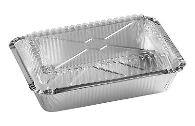 Foil Oblong Take-Out Container with Dome Lid 2.25 lb. (250 sets)