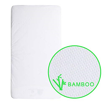 Waterproof Crib Mattress Pads Protector Bamboo Fiber Baby Bed Fitted Toddler Bed