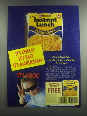 2000 Maruchan Instant Lunch Cheddar Cheese Ramen Noodles Ad - It's cheesy