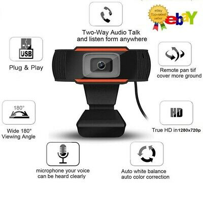 Webcam Auto Focusing Web Camera HD Cam with Microphone For PC Laptop Desktop USA