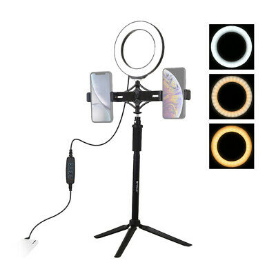 Led Selfie Lamp Ring Light With Tripod Stand Phone Clamp For Video Photography