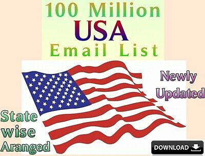 100 Million USA Email Lists database active package B2B,B2C newly updated
