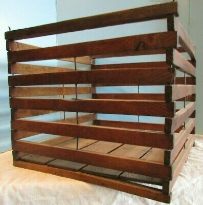 antique wooden humpty dumpty egg crate carrier