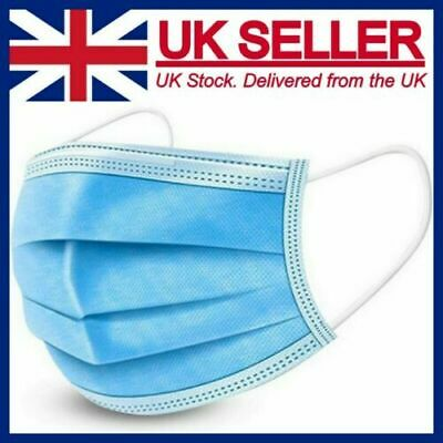Face Mask Surgical Disposable Mouth Cover 3PLY Breathable Respiration  Dust Mask