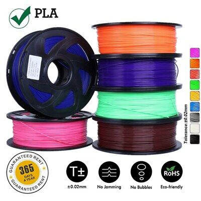 3D Printer Filament PLA 1.75mm  Various Colours Available Printer BLACK In USA