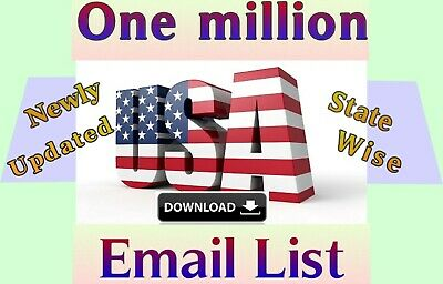 1 Million USA Consumer Email List Sales database Marketing & Business Targeted
