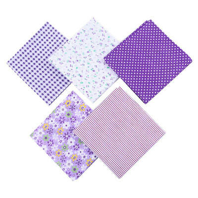 Fabric Cotton 5Pcs DIY 50*50cm Mixed Pattern Sewing Quilting Patchwork Crafts