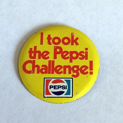 I TOOK THE PEPSI CHALLENGE! tab tin-badge button pin: late 1970's/early 1980's
