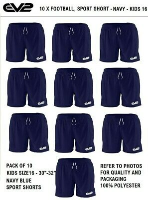 Kids Boys and Girls, Jogging, Running, Gym Sports,Size Kids 16 NAVY - PACK OF 10