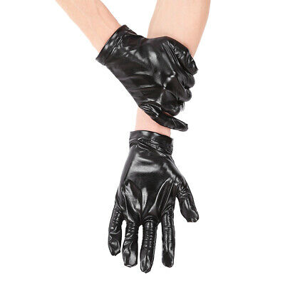 1 Pair Unisex Shiny Metallic Wrist Length Full Finger Short Breathable Gloves