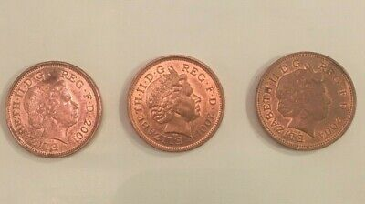 5 x 2p United Kingdom 'TWO PENCE' Coins  - 1989, 1997, 2001 (x2), 2004.