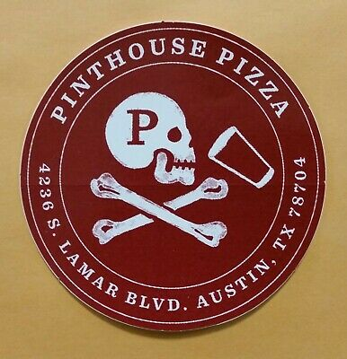 PINTHOUSE PIZZA Austin Texas red STICKER decal craft beer brewery brewing