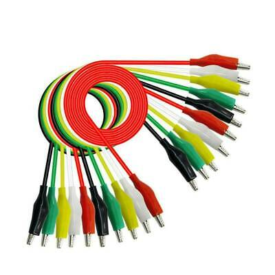 10X Alligator Clip Test Leads Set WG-026 Dual Ended Jumper Wire Cable 5 Colors.