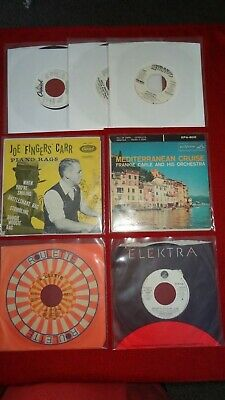 "Lot of 7 Record 45's small 7"" 45 RPM music collection bundle Vintage Rare Music"