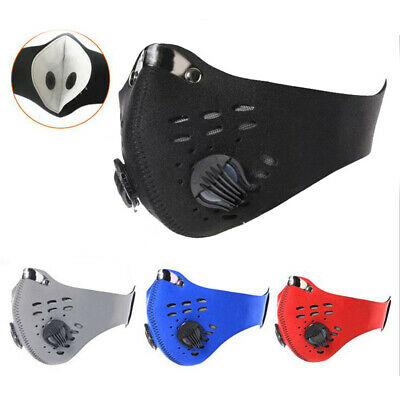 Adult Washable Anti-PM2.5 Air Purifying Mouth Face Cover With Breathing Valve US