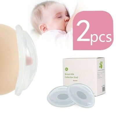 2X Breast Milk Collector Nursing Cups Reusable Collect Leakproof Saver Silicone