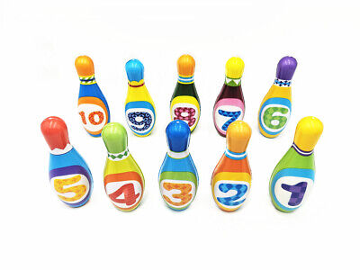 Mini Skittle Balls Bowling Set Indoor Outdoor Party Game Play Toy for Kids Child