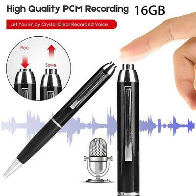 16GB/8GB Hidden Voice Activated Recorder Pen Mini Sound Audio Rechargeable MP3