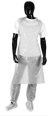 Disposable Medical Aprons Waterproof Polythene White