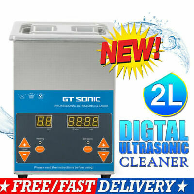 2L Digital Ultrasonic Cleaner Stainless Jewelry Cleaning Heater Basket Timer UK