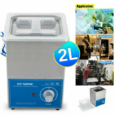 2L Professional Ultrasonic Cleaner Ultra Sonic Jewelry Cleaning Basket Timer