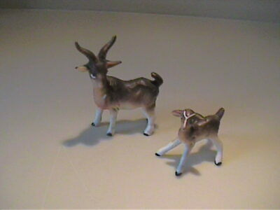 Vintage 1960'S Miniature Bone China Billy Goat And Kid