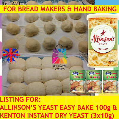 Allinson FAST ACTION EASY Bake Dried Yeast BLEND INSTANT DRY YEAST BREAD 100g