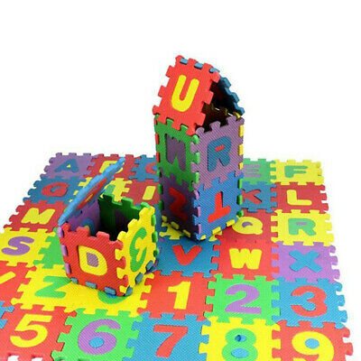 Children Baby Kids Educational Alphabet Number Puzzle Play Toys 36pcs No Harm