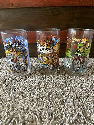Vintage 1981 The Great Muppet Caper McDonald's Drinking Glasses Cups Lot of 3