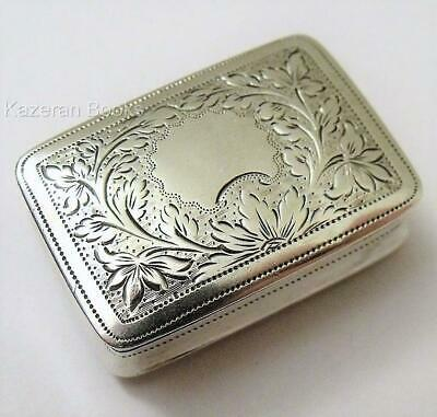 Antique William IV Solid Sterling Silver Vinaigrette 1830 By John Lilly